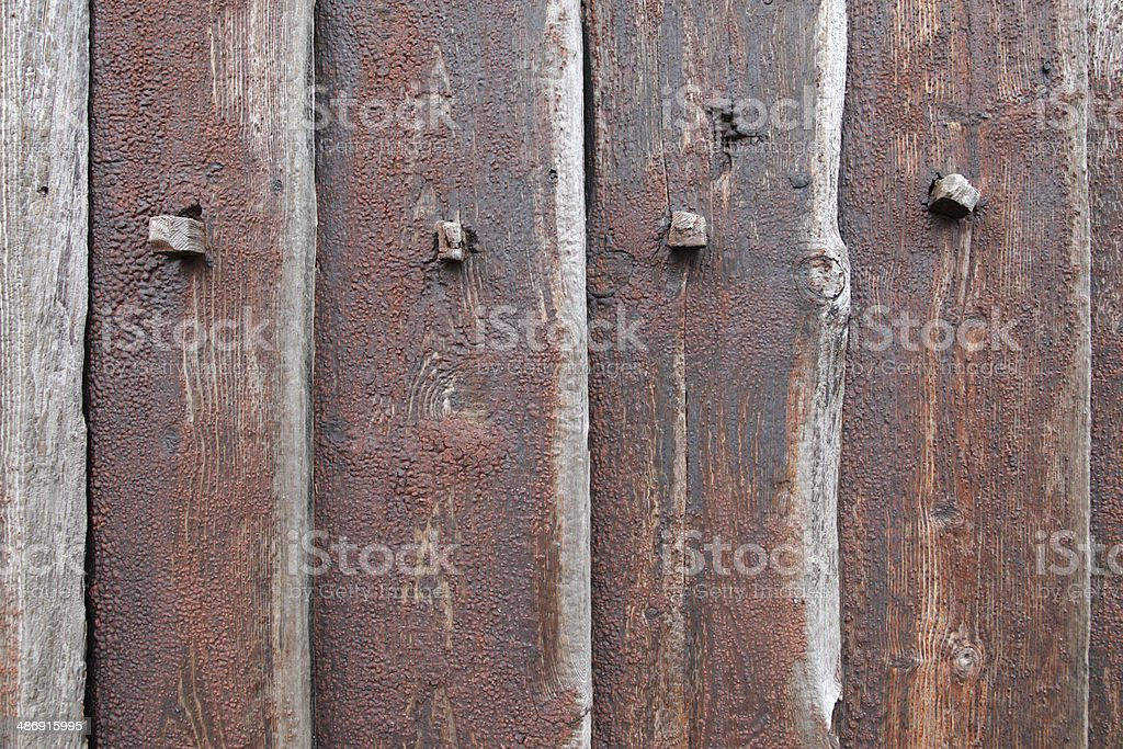 Tarred planks royalty-free stock photo