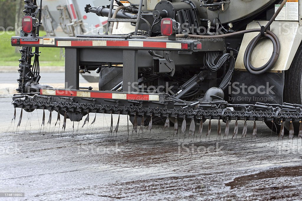 Tarring A Road stock photo