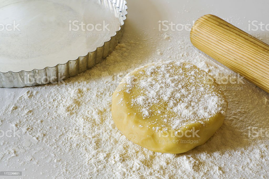 Tart Dough in Progress stock photo