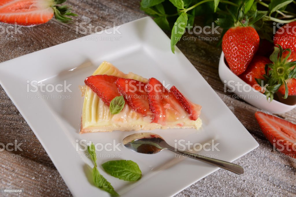 Tart slice stock photo
