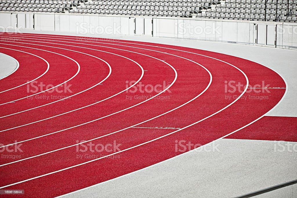 Tartan running sports track stock photo