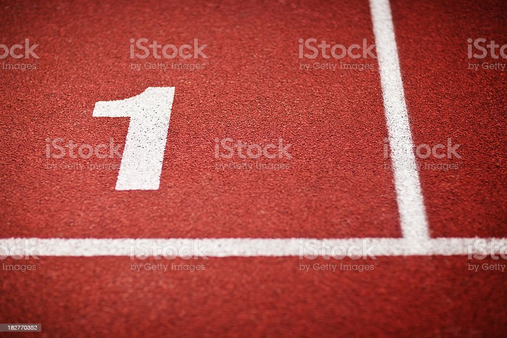 Tartan running sports track royalty-free stock photo