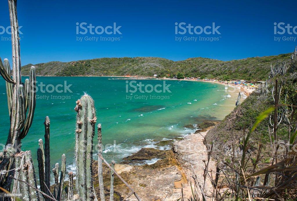 Tartaruga Beach - Buzios during summer time stock photo