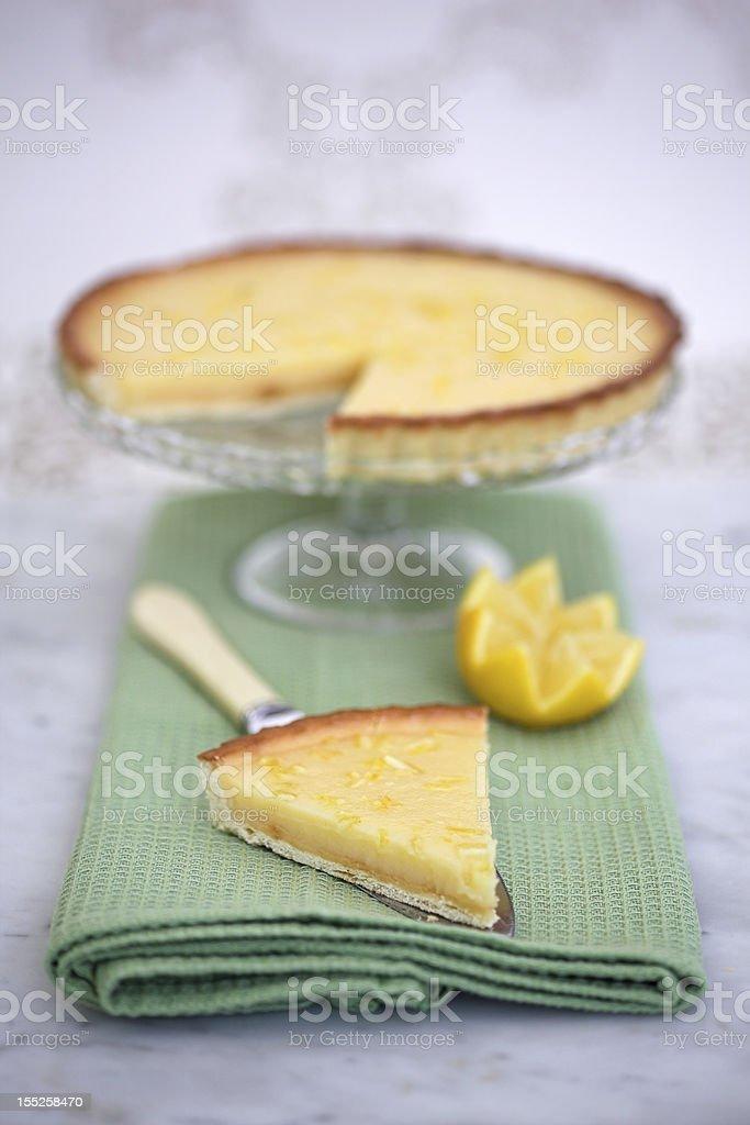 Tarte au Citron royalty-free stock photo