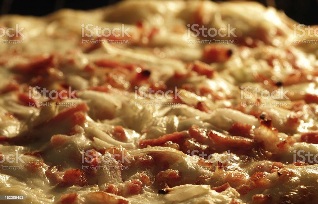 Tarte flambée /Pizza / Flammkuchen from Alsace stock photo