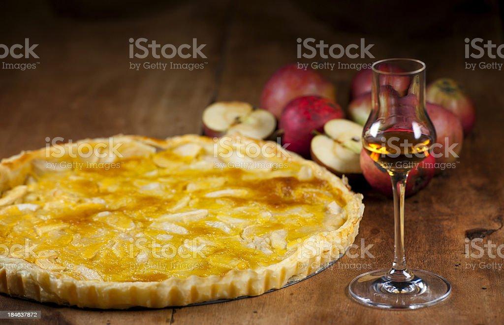Tarte Tatin – famous French apple pie stock photo