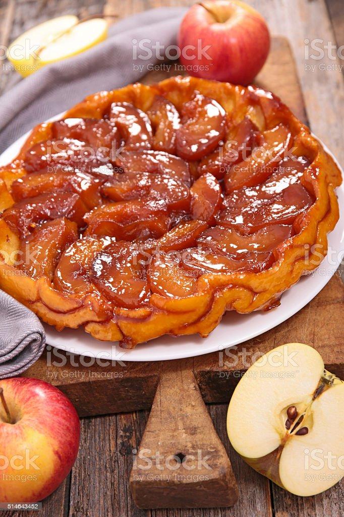 tarte tatin, french pastry stock photo