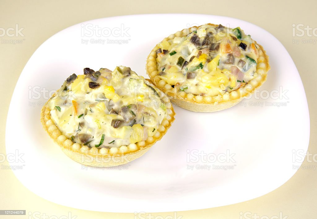 tartlet with salad royalty-free stock photo