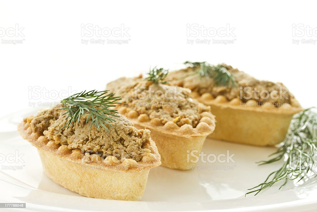 tartlets with paste royalty-free stock photo
