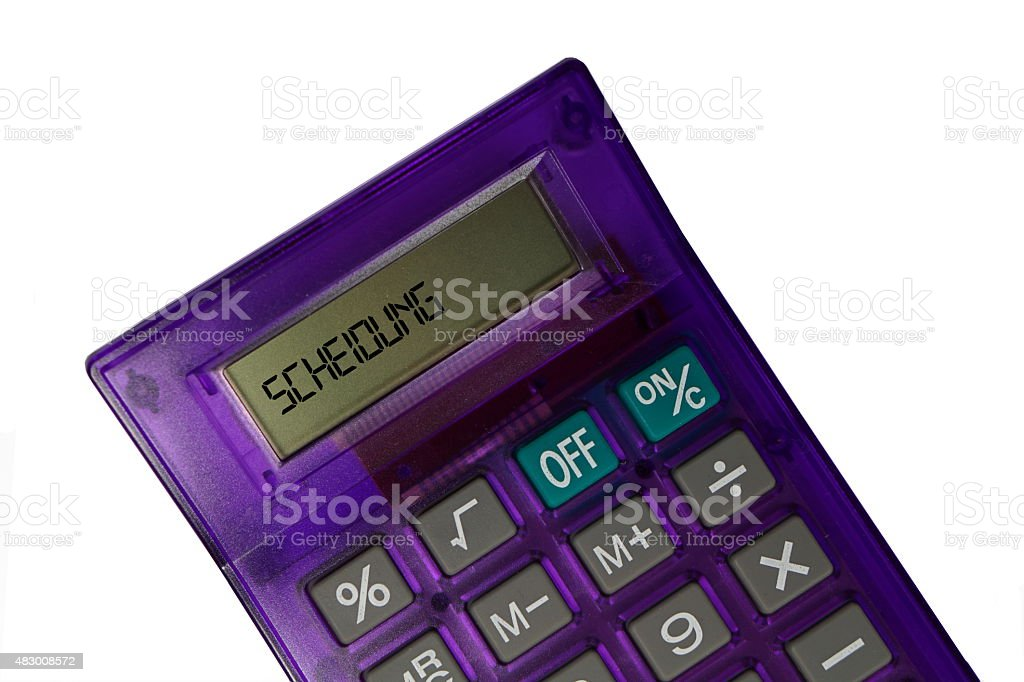 Taschenrechner Scheidung stock photo
