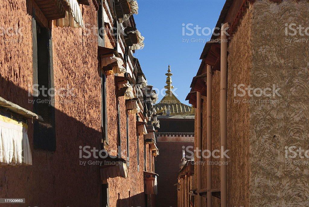 Tashilhunpo streets royalty-free stock photo