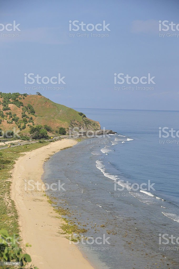 Tasitolu, East Timor: beach stock photo