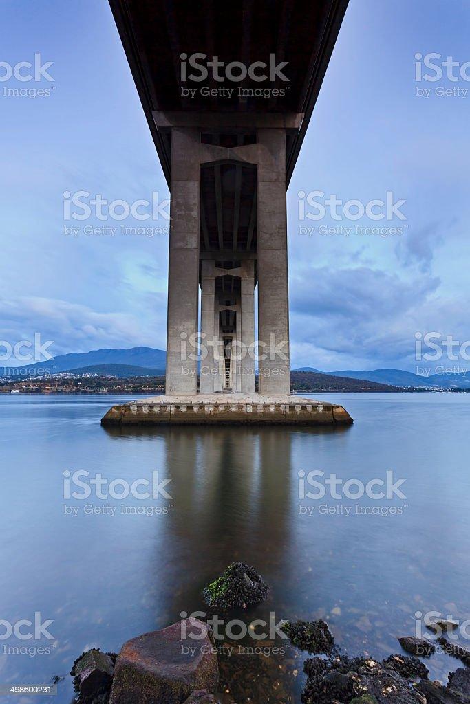 Tasman Bridge Under Blue stock photo
