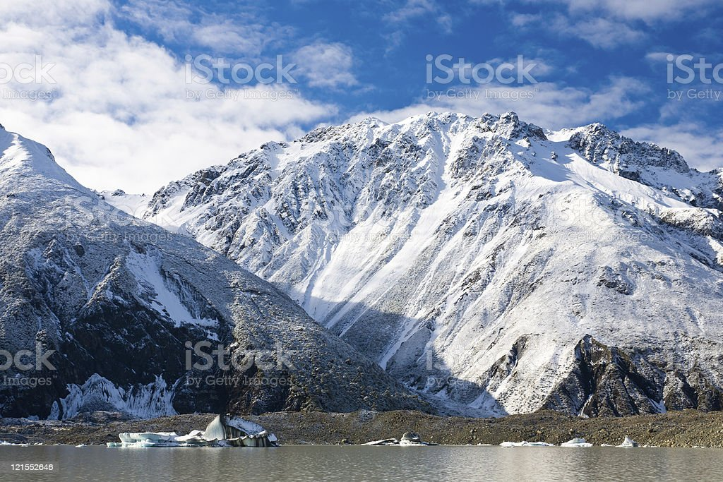 Glacier de Tasman Lac photo libre de droits