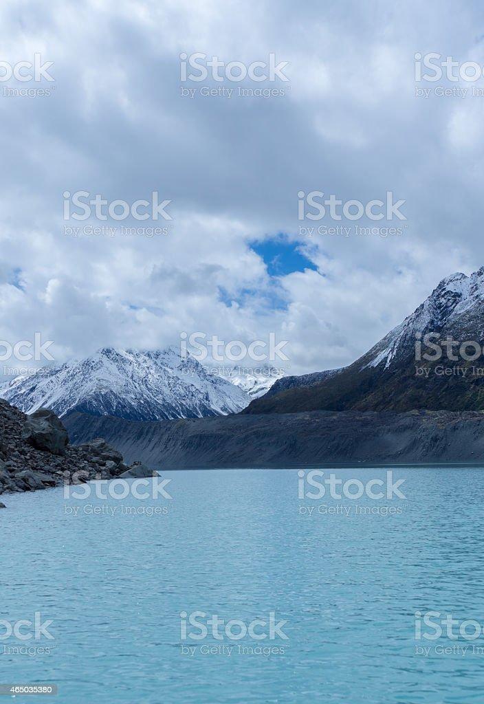 Tasman Glacier Lake stock photo
