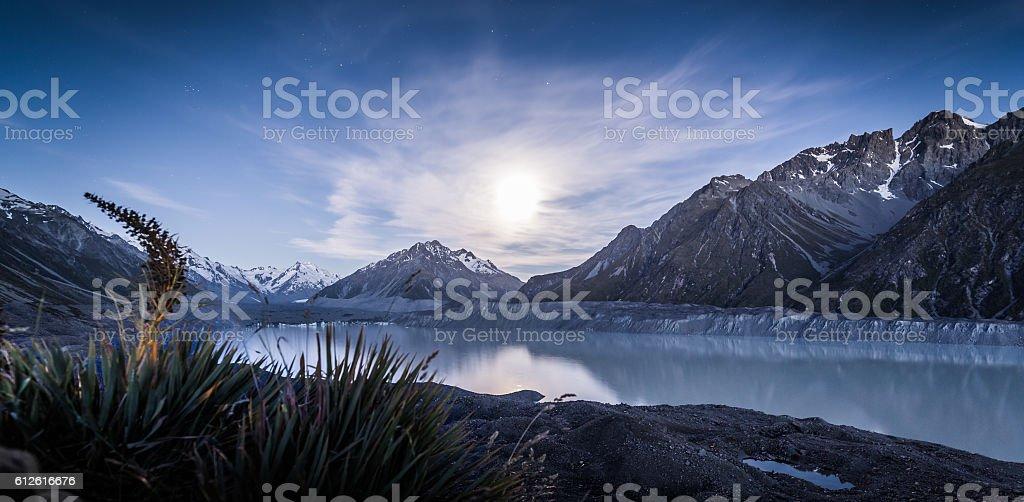 Tasman Glacier New Zealand Mount Cook stock photo