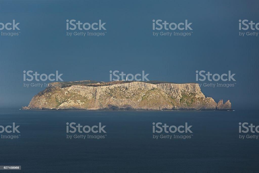 Tasman Island in the distance stock photo
