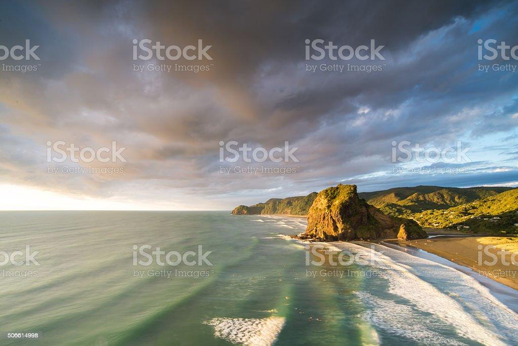 Tasman Lookout - Piha stock photo