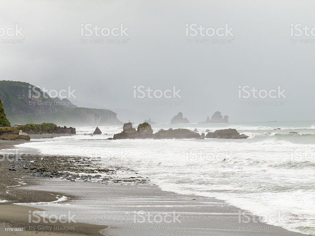Tasman Sea at West Coast of South Island, NZ royalty-free stock photo