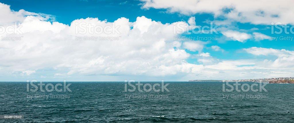 Tasman sea view stock photo