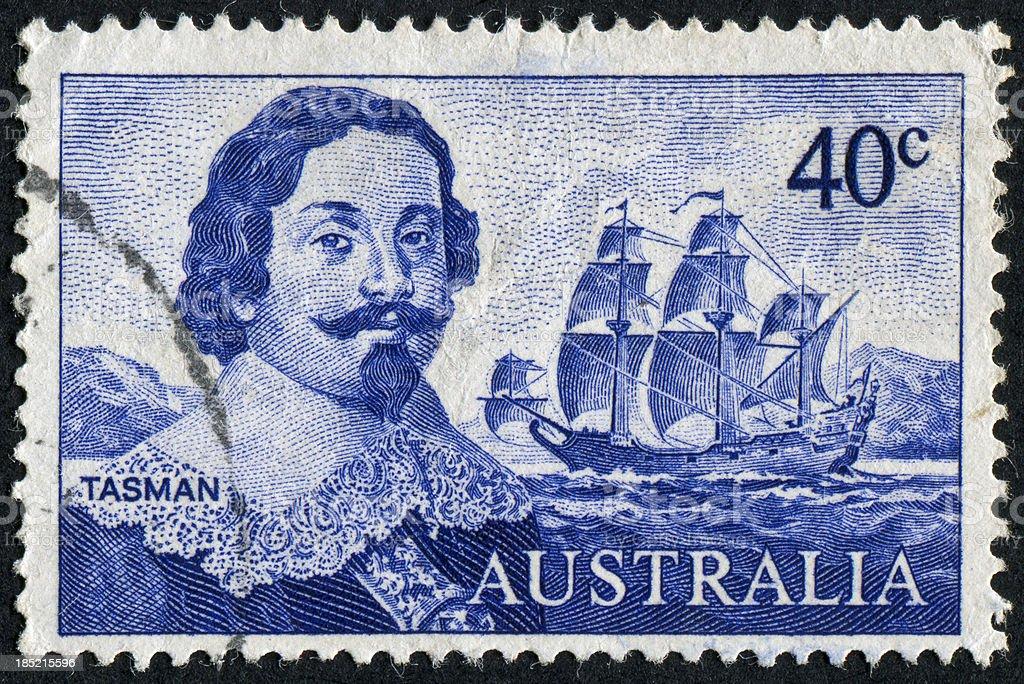 Tasman Stamp stock photo