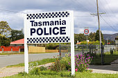 Tasmania Police sign