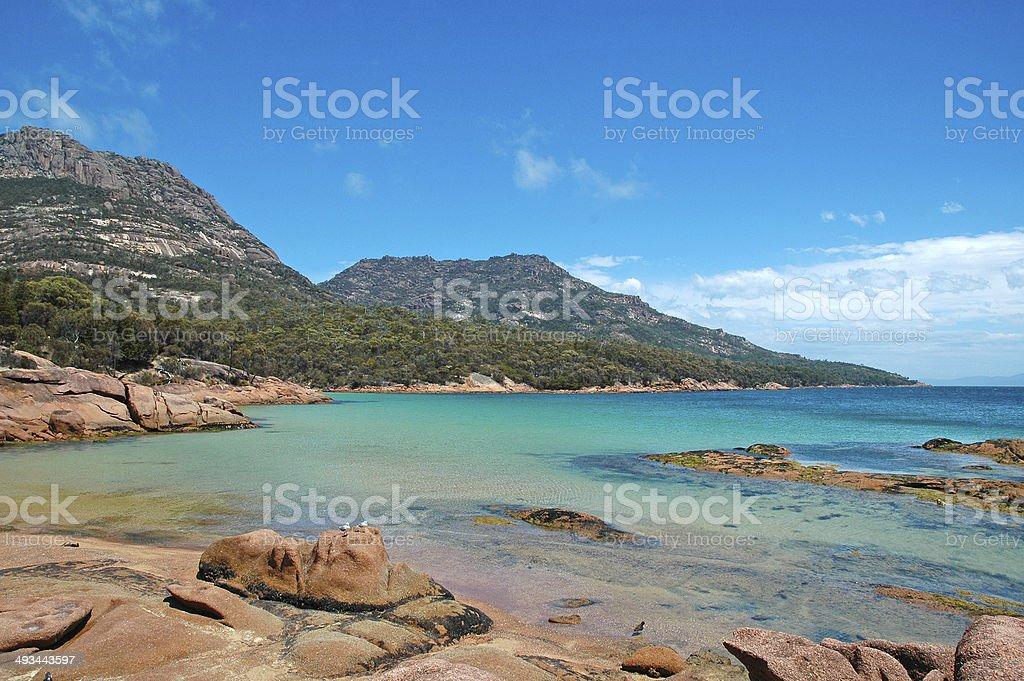 Tasmanian Coast, Freycinet National Park, Tasmania, Australia stock photo