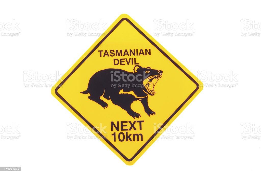 Tasmanian devil sign royalty-free stock photo