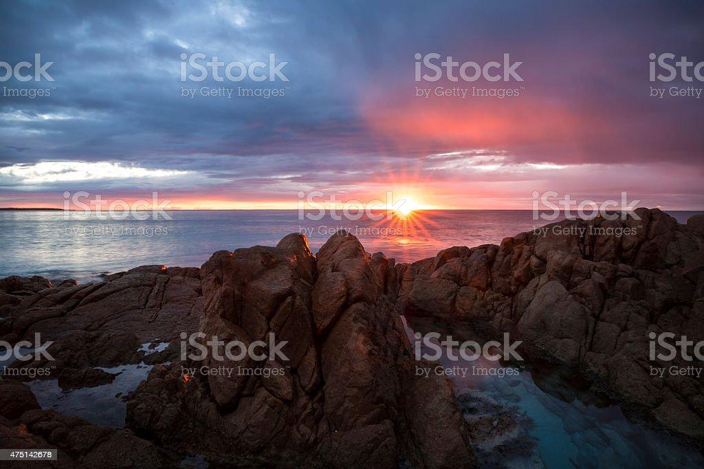 Tasmanian east coast. stock photo
