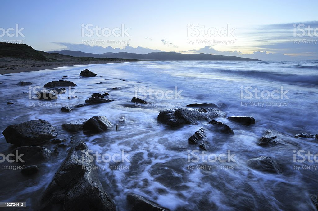 Tasmanian Evening Beach stock photo