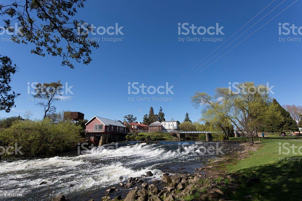Tasmanian Town stock photo