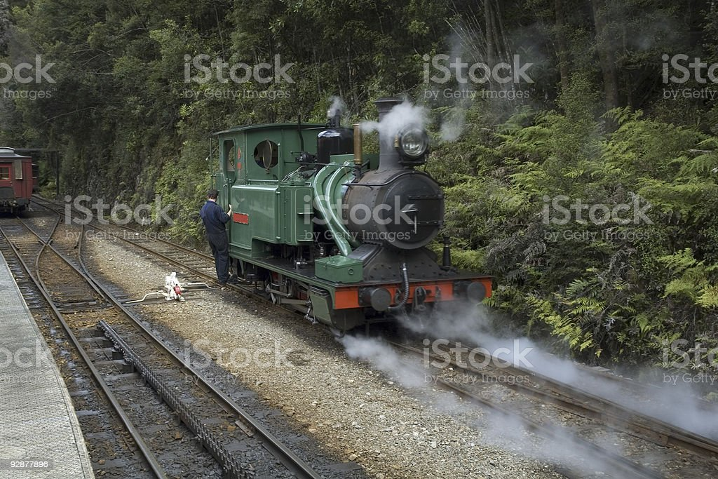 Tasmanian Wilderness Steam Train royalty-free stock photo