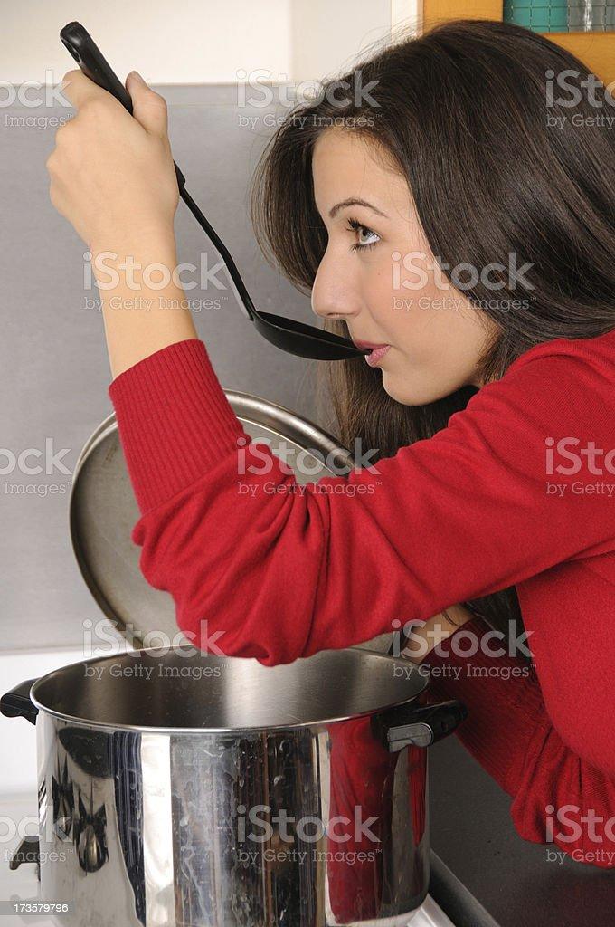 Taste Test royalty-free stock photo