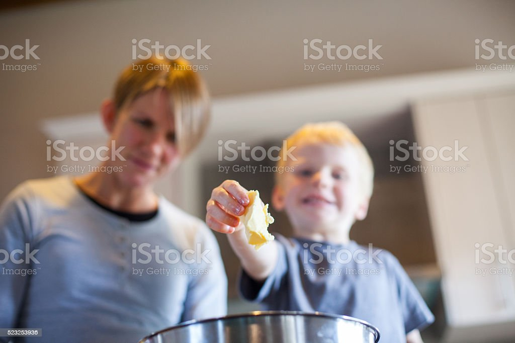 Tasteful butter to those cookies stock photo