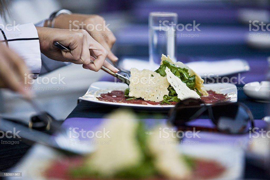Tasteful dining royalty-free stock photo