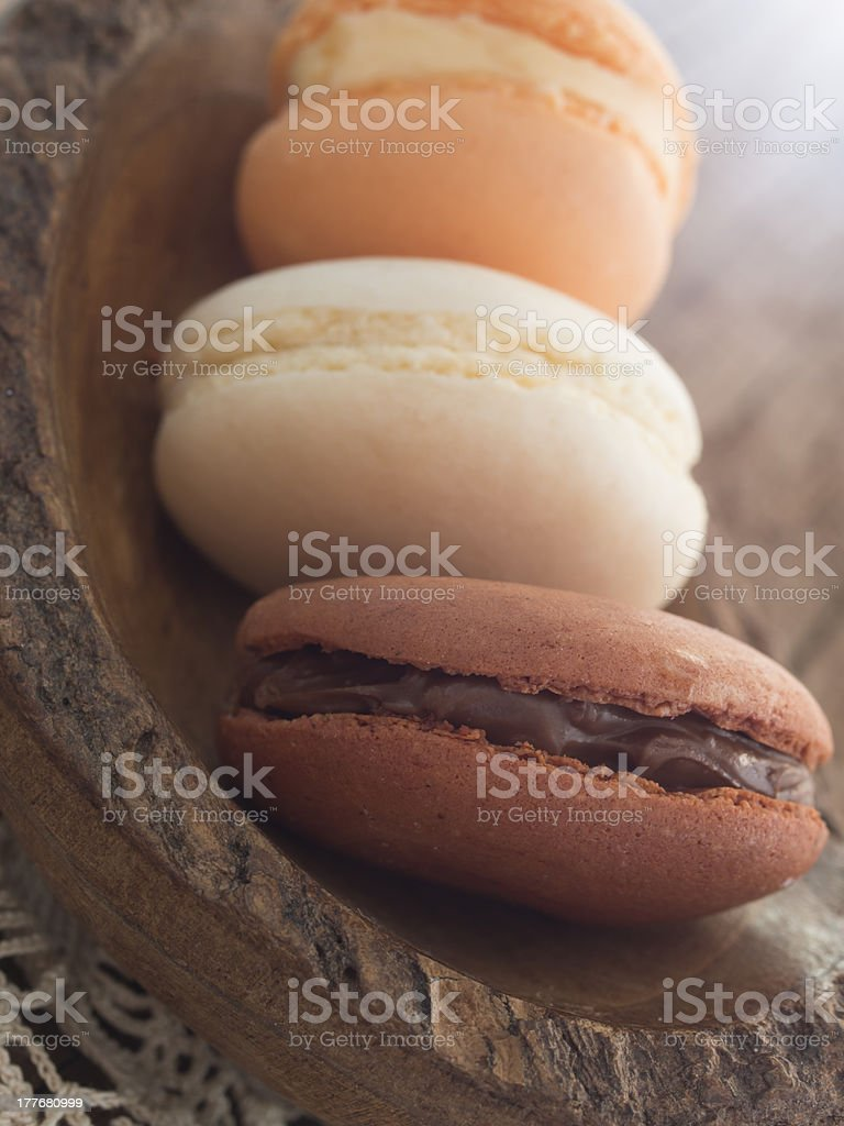 tasteful macaroons royalty-free stock photo