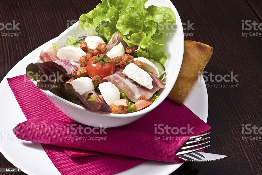 Tastefull meal with meat and vegetable royalty-free stock photo