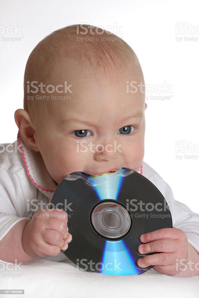 tastful music, baby dj royalty-free stock photo