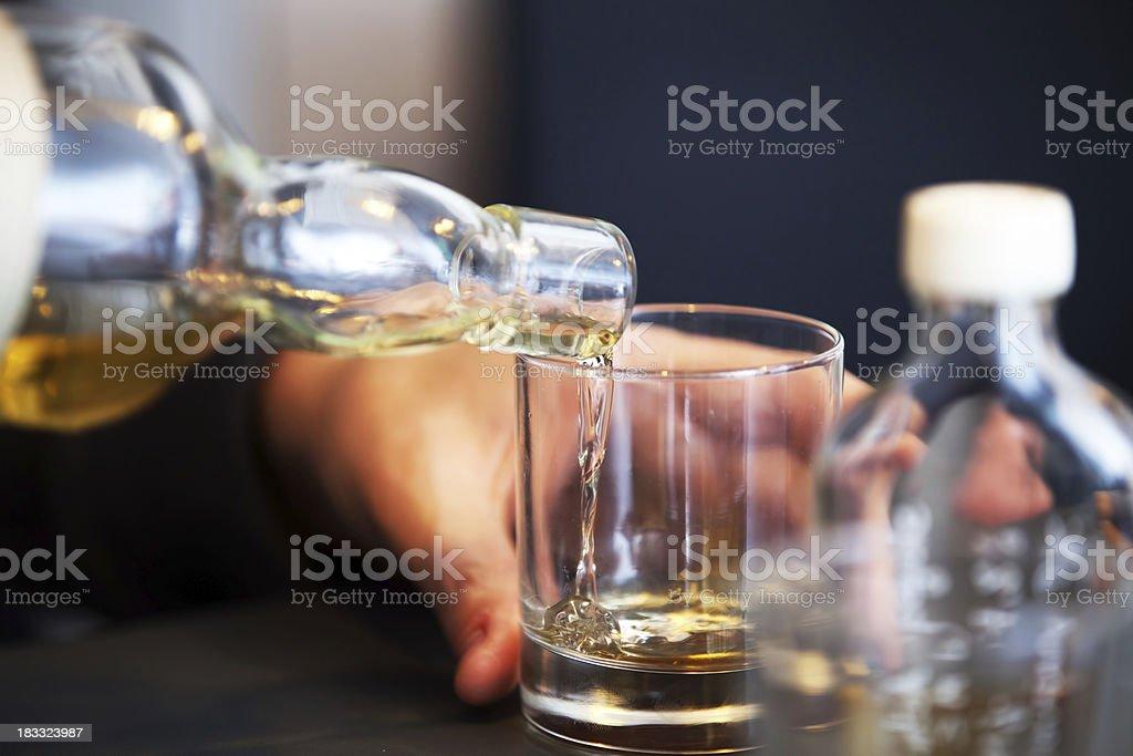 Tasting a vintage whiskey stock photo