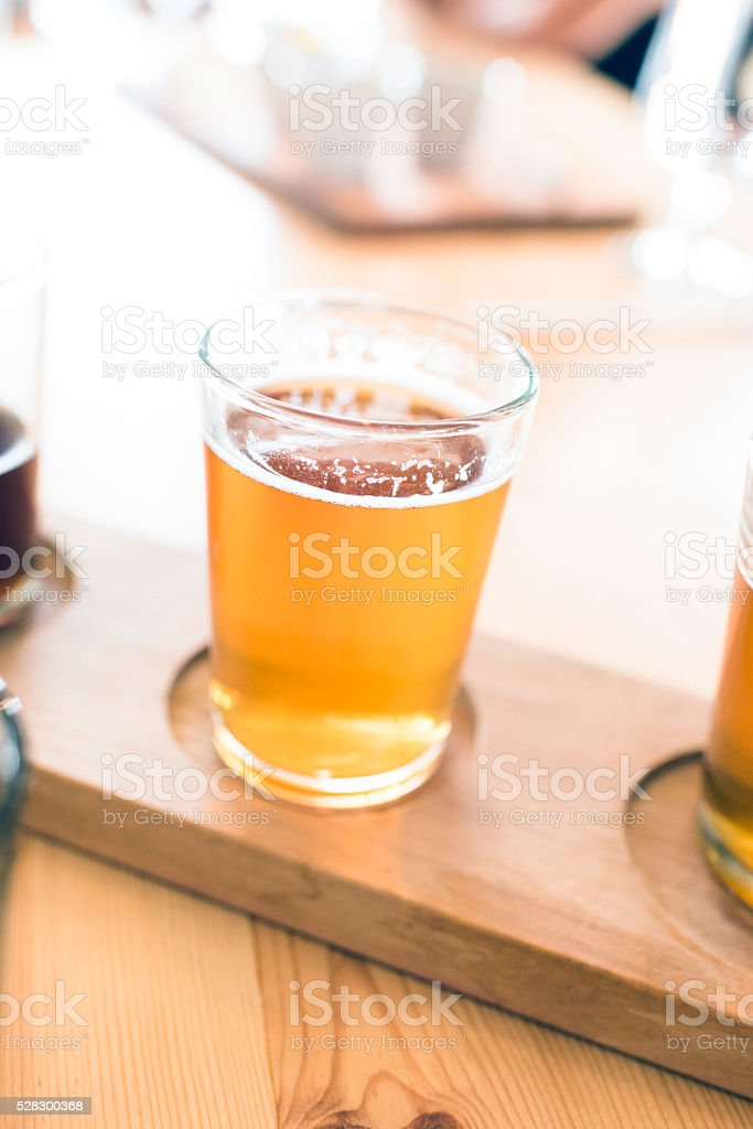 Tasting Glass Filled With Craft Beer stock photo