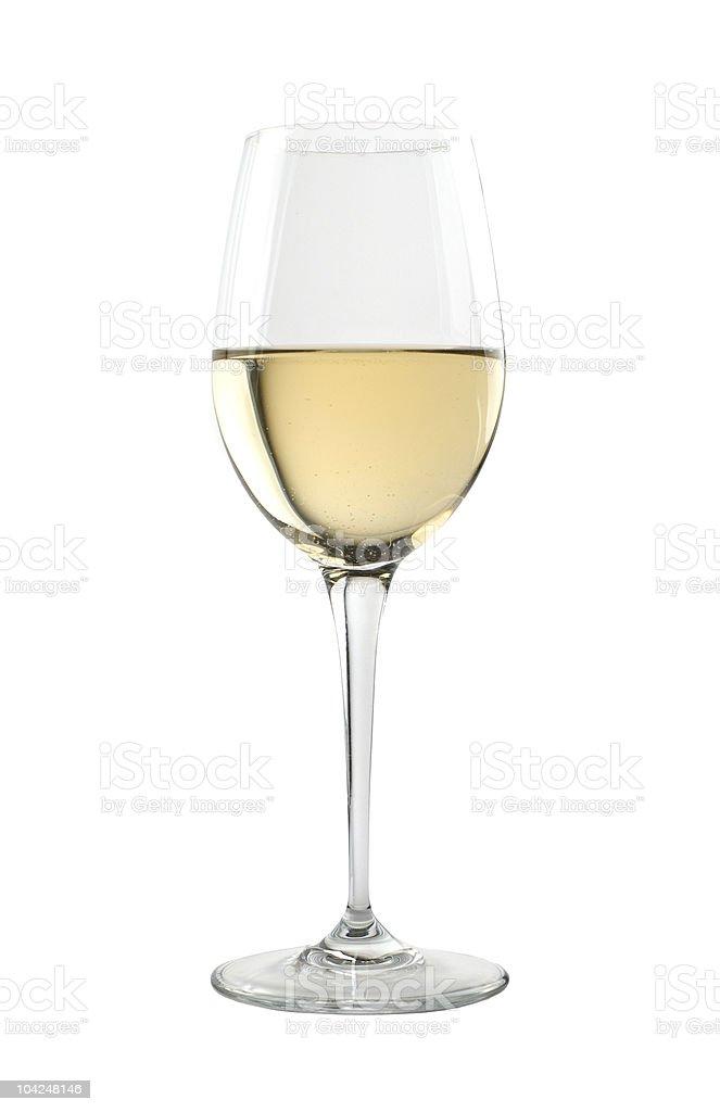 Tasting glass for fine white wines stock photo