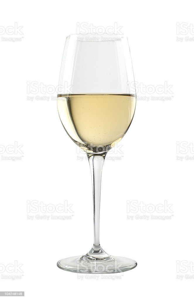 Tasting glass for fine white wines stock photo