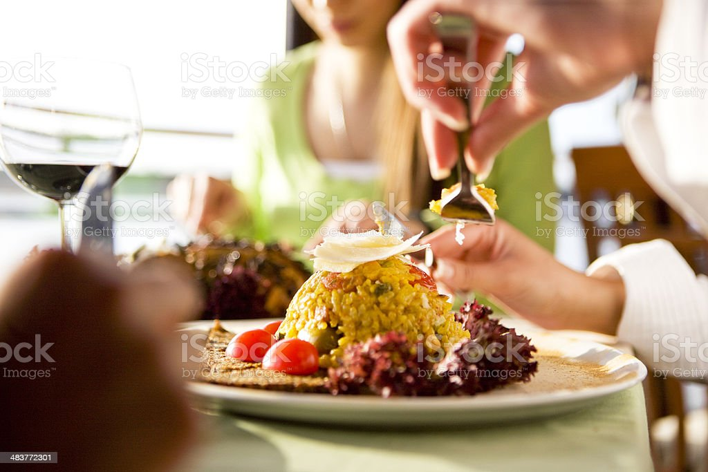 Tasting meal royalty-free stock photo