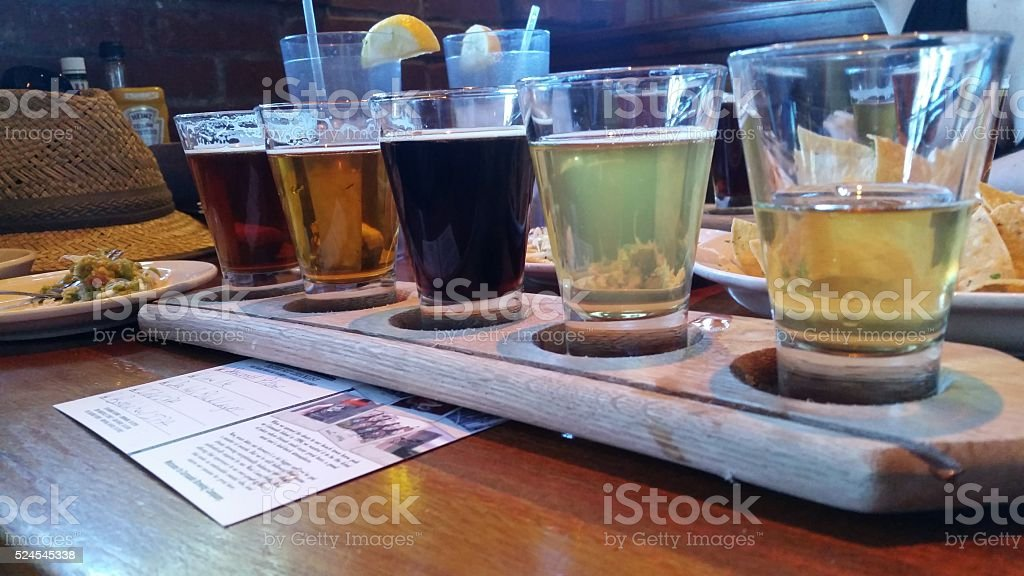 Tasting of Beer - Side View stock photo