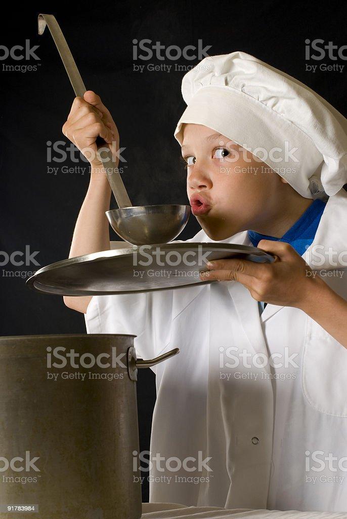 Tasting royalty-free stock photo