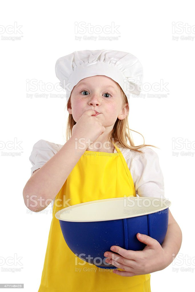 tasting the batter royalty-free stock photo