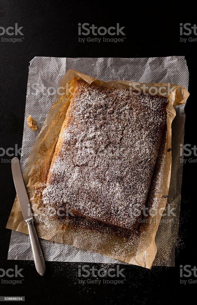tasty almond cake stock photo