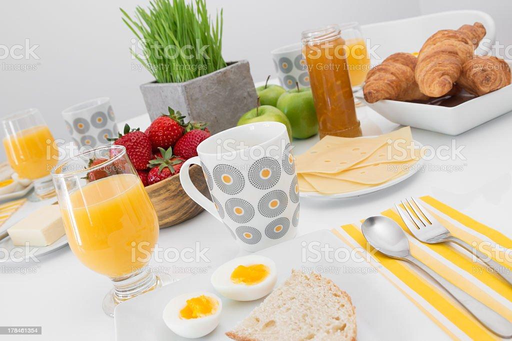 Tasty and healthy breakfast stock photo