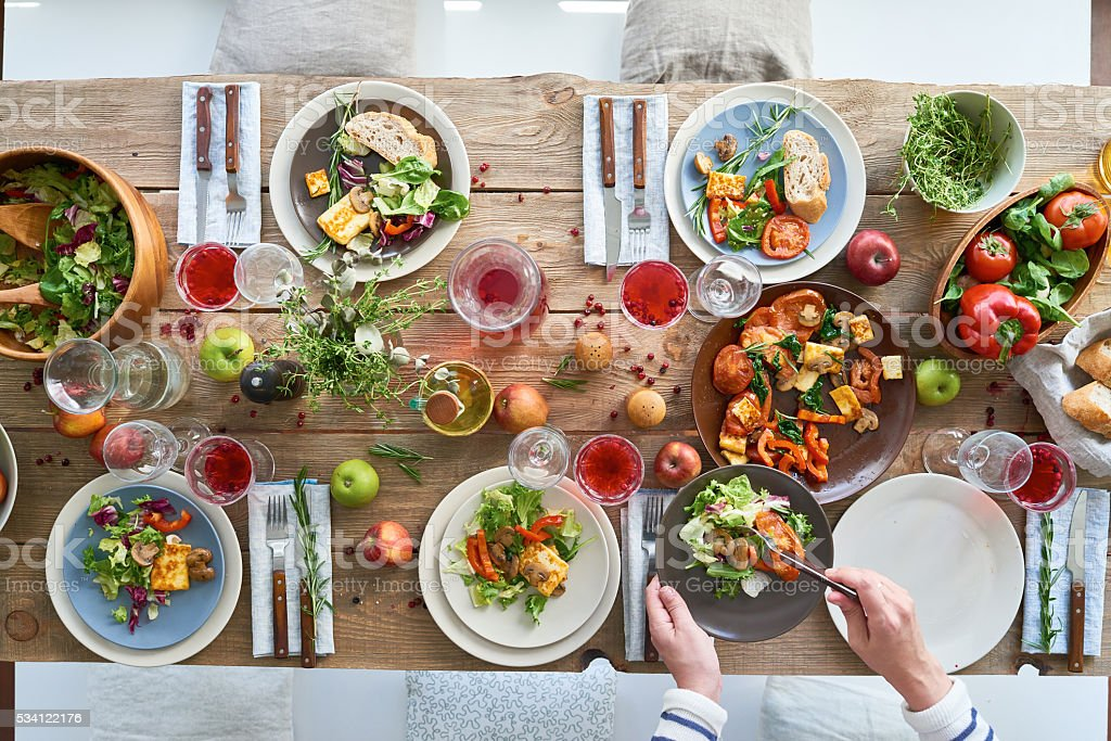 Tasty and healthy food stock photo