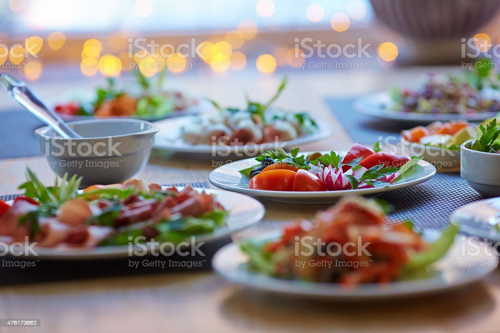 tasty appetizer stock photo